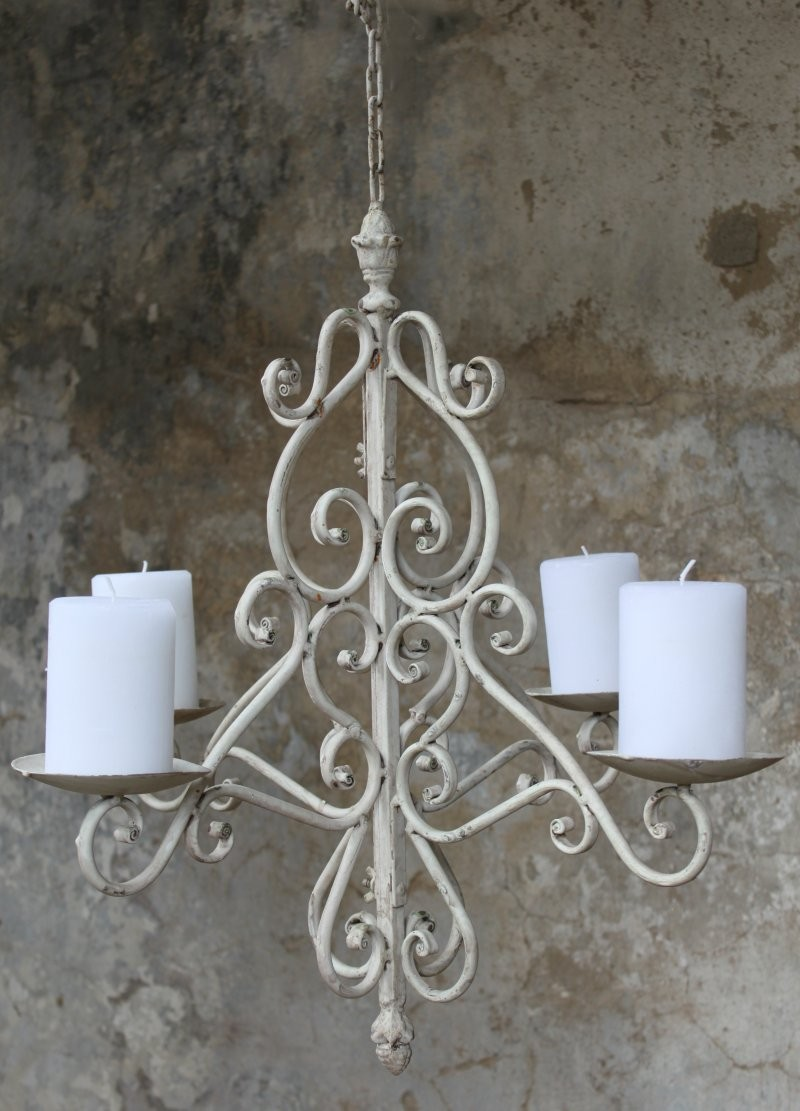 kronleuchter h ngeleuchter f r kerzen shabby haus garten shabby antik aussehend lampen. Black Bedroom Furniture Sets. Home Design Ideas