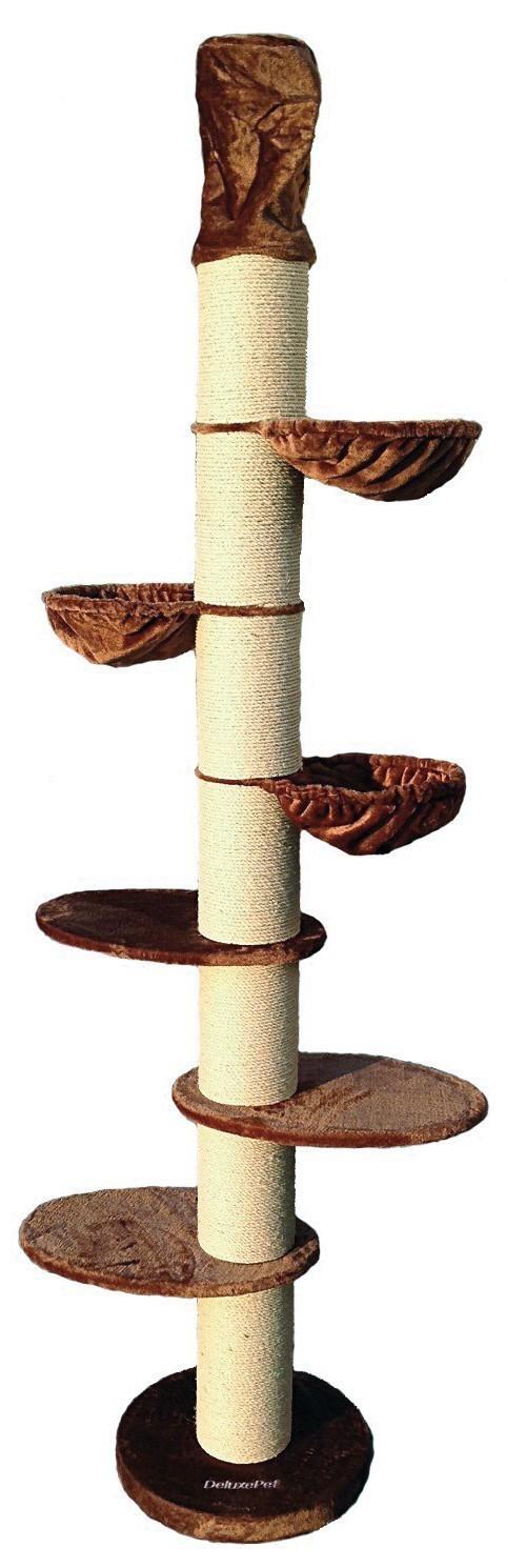 kratzbaum athen braun deckenhoch mit 20cm dicken s ulen super stabil haustierbedarf katzen. Black Bedroom Furniture Sets. Home Design Ideas