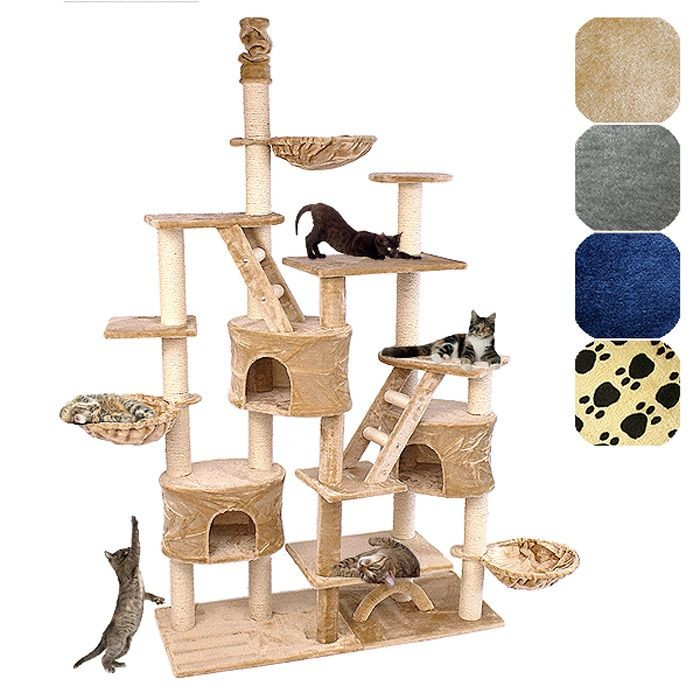 kratzbaum c13 haustierbedarf katzen kratzb ume deckenhoch. Black Bedroom Furniture Sets. Home Design Ideas