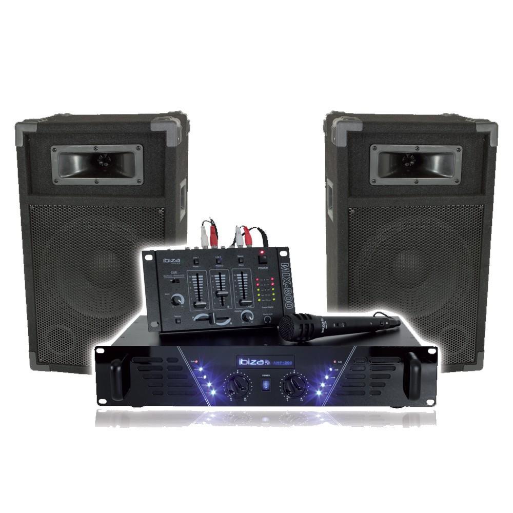 party musikanlage soundanlage dj set mikro 2x240 watt. Black Bedroom Furniture Sets. Home Design Ideas