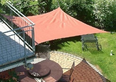 Sonnensegel rechteck 5x6m 4 farben haus garten sonnensegel - Garten sonnensegel ...