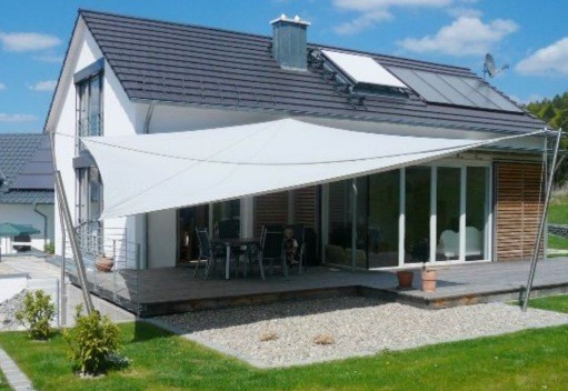 sonnensegel trapezf rmig 5 4x3m 4 farben haus garten sonnensegel. Black Bedroom Furniture Sets. Home Design Ideas