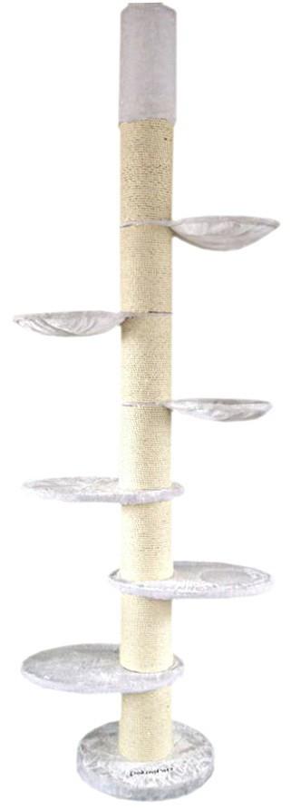 kratzbaum athen weiss deckenhoch mit 20cm dicken s ulen super stabil haustierbedarf katzen. Black Bedroom Furniture Sets. Home Design Ideas